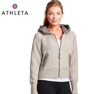 Athleta Attica Wool Zip Jacket